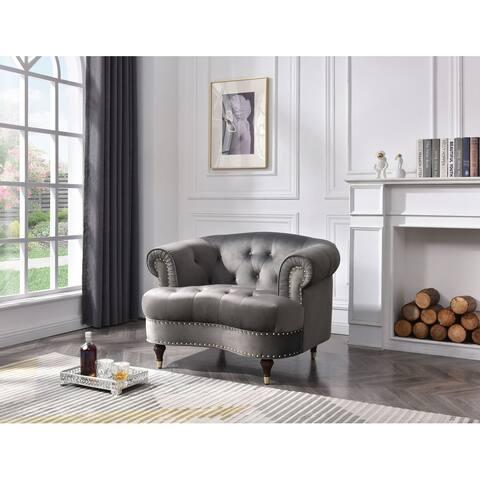 Beverly Velvet Tufted Chair
