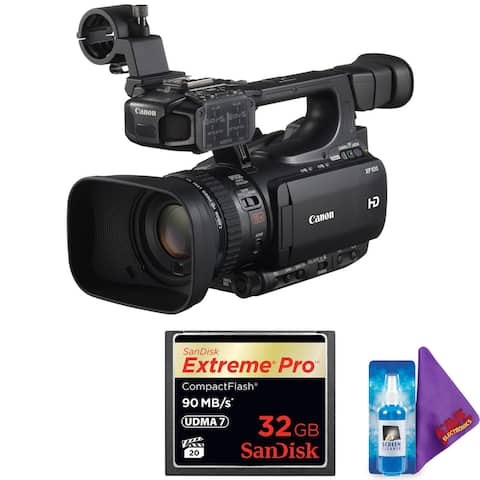 Canon XF100 HD Professional PAL Camcorder + Pro Accessories Bundle