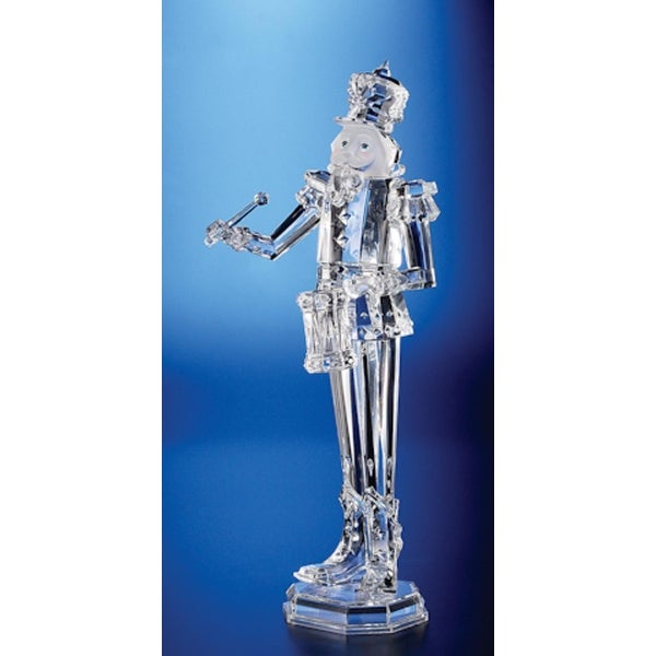 Pack of 2 Icy Crystal Decorative Christmas Nutcracker Drummer Figure 18""