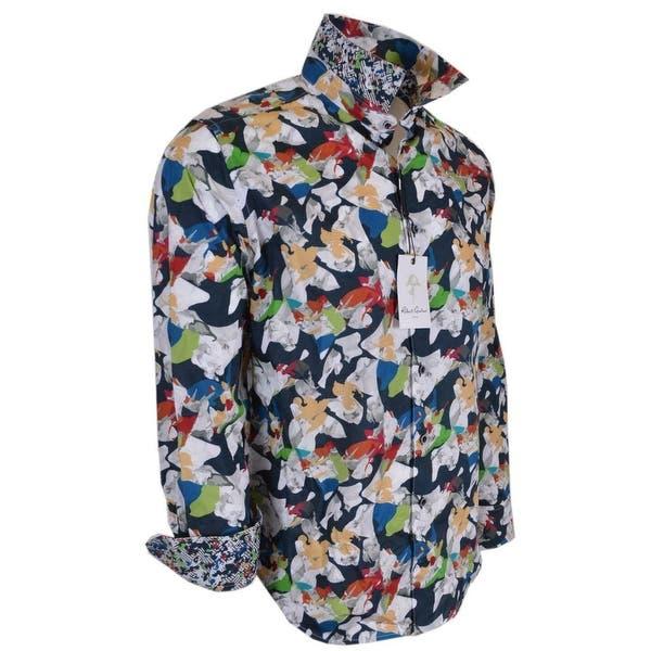NEW Robert Graham $268 MINICOY ISLAND Floral Egyptian Cotton Classic Fit Shirt