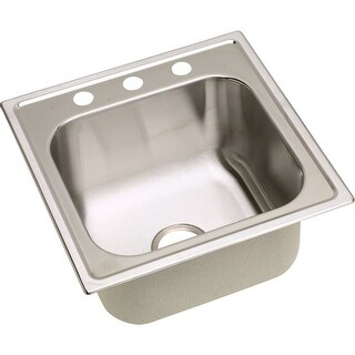 "Elkay DPC1202010 Dayton 20"" Single Basin Drop In Stainless Steel Kitchen Sink"