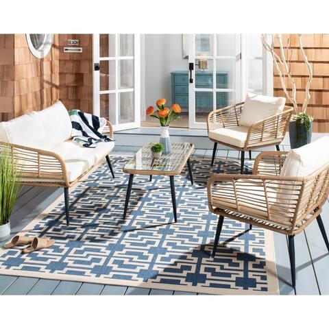 SAFAVIEH Outdoor Living Harrley 4-Piece Patio Set