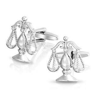 Bling Jewelry Steel Plated Libra Judge Lawyer Scales of Justice Cufflinks