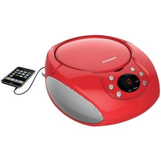 Sylvania SRCD261-B-RED Portable CD Players with AM & FM Radio - Red