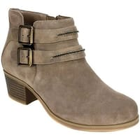 White Mountain Women's Utterly Ankle Bootie Taupe Suede