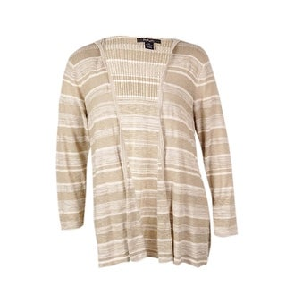Style & Co. Women's Striped Hooded Cotton Cardigan