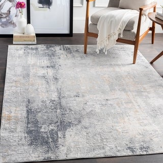 The Gray Barn Brook Haven Light Grey and Tan Modern Area Rug