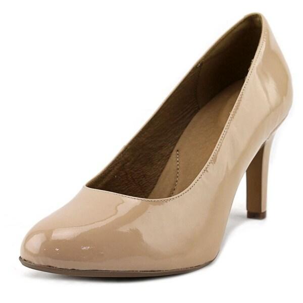 Clarks Artisan Heavenly Star Women W Round Toe Patent Leather Heels