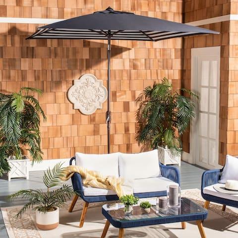 Safavieh Outdoor Living Athens 7.5 Ft Square Crank Umbrella