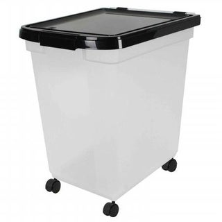 Iris USA Airtight Pet Food Storage Container with Casters, 4.83