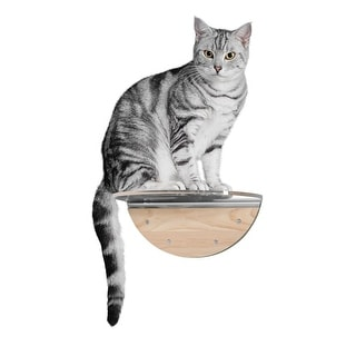 Link to MYZOO Round Lack Clear (1 pcs) Wall Mounted Cat Shelves with Transparent Board - Beige Similar Items in Cat Scratching Posts & Pads