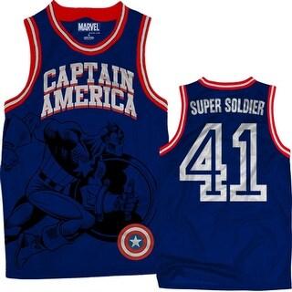 Captain America Super Soldier Men's Navy Jersey