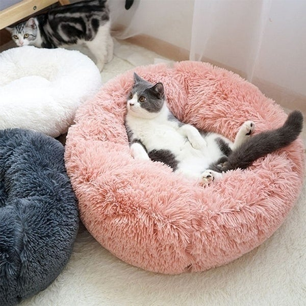 Pet Soft Plush Kennel Small and Medium Dogs Cat Deep Sleep Velvet Round for Dogs and Cats - XS. Opens flyout.
