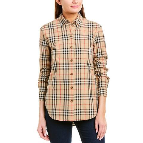 Burberry Button-Down Collar Vintage Check Shirt
