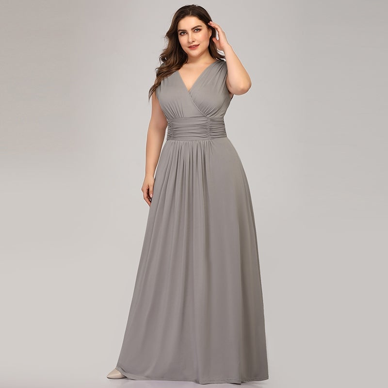 Ever-Pretty Womens Empire Waist Elegant Plus Size Long Evening Wedding  Party Dance Dress 76612