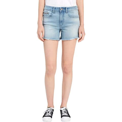 Calvin Klein Jeans Womens Cutoff Shorts Denim Distressed