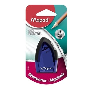 Maped Tonic 1-Hole Pencil Sharpener with Metal Insert, 2-1/2 x 1 Inch, Assorted Colors