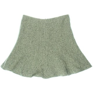 Lauren Ralph Lauren Womens Wool Blend Lined Flounce Skirt