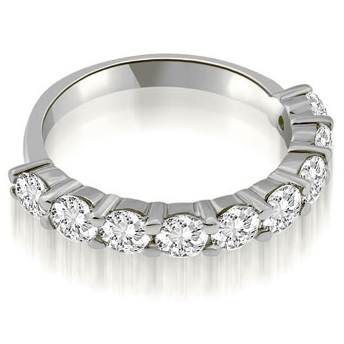 1.80 cttw. 14K White Gold Classic Round Cut Diamond Wedding Band