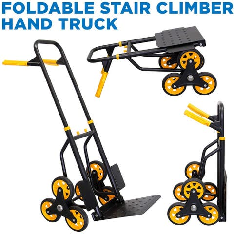 Mount-It! Stair Climber Hand Truck and Dolly, 264 Lb Capacity