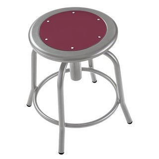 18 - 25 in. Height Adjustable Designer Stool with Burgundy Seat &