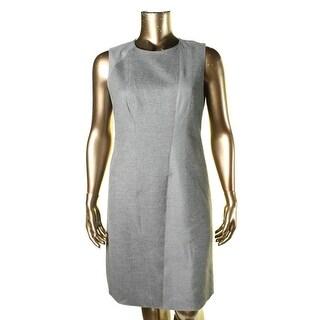 Elie Tahari Womens Alayna Knit Sleeveless Wear to Work Dress