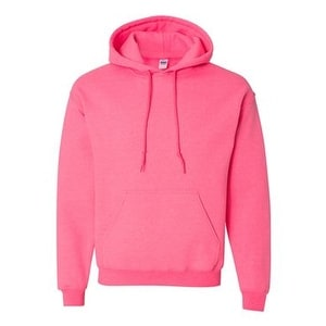 b44453a8 Shop Gildan Heavy Blend Hooded Sweatshirt - Safety Pink - L - Free Shipping  On Orders Over $45 - Overstock - 16236333