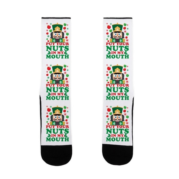 Put Your Nuts In My Mouth US Size 7-13 Socks by LookHUMAN