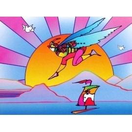 Winged Flyer with Sunrise Ver. II, Ltd Ed Lithograph, Peter Max