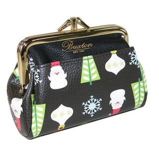 Buxton Women's Christmas Holiday Double Coin Purse Wallet - One size
