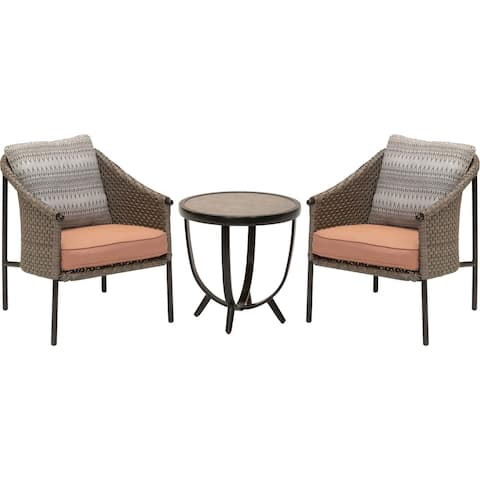 M?d Santa Fe 3-Piece Deep Seating Set with 2 Bucket Chairs and Drum Side Table