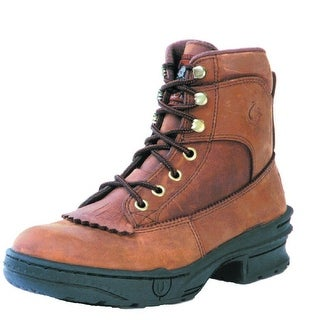 Roper Western Boots Mens Crossrider Lace Up Brown