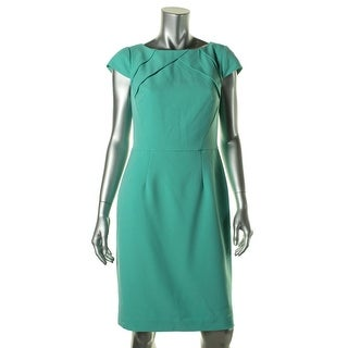 Adrianna Papell Womens Cap Sleeves Boatneck Wear to Work Dress - 6