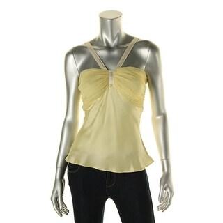 Catherine Malandrino Womens Silk Crinkled Blouse - S