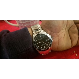 Stuhrling Original Men's Swiss Quartz Regatta Elite Divers Watch with Stainless Steel Link Bracelet