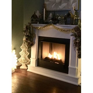 Real Flame Silverton White 48 in. L x 13 in. D x 41 in. H Ventless Gel Fireplace