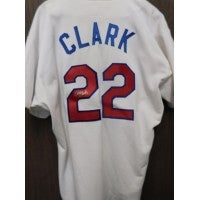 online store 03ddb e1d3e Signed Clark Will Texas Rangers Will Clark Texas Rangers Authentic Jersey  Size 48 Theres a Blue Sta