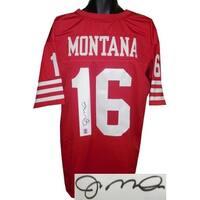 Joe Montana signed Red TB Custom Stitched Pro Style Football Jersey XL Montana Hologram