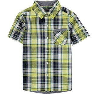 French Toast Boys 4-7 Woven Plaid Shirt