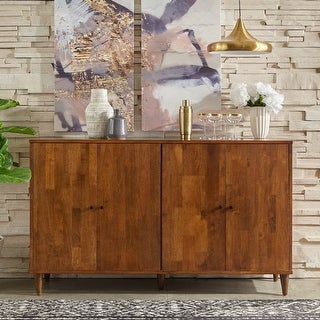 Link to Lifestorey Vilas Mid-Century Modern Solid Wood 4-door Buffet Similar Items in Dining Room & Bar Furniture