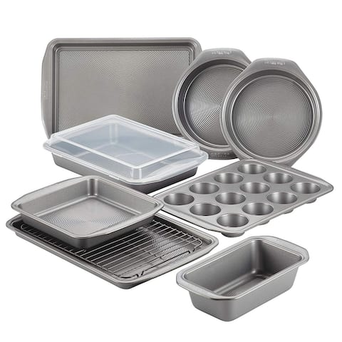 Circulon 47485 10-Piece Steel Bakeware Set, Gray - Grey