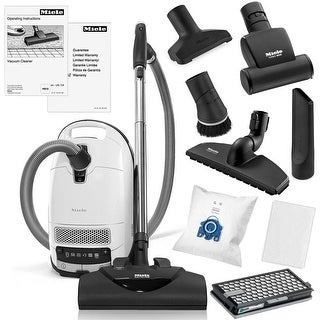 Miele Complete C3 Cat and Dog Canister Vacuum Cleaner + SEB-228 Powerhead + SBB-300 Floor Brush + STB101 Turbo Brush + More