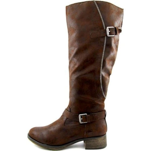 Style & Co Gayge Wide calf Women Round Toe Synthetic Brown Knee High Boot - 5
