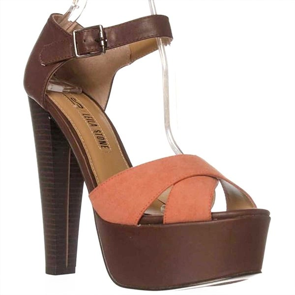 Leila Stone Bethan Ankle Strap Sandals - Dark Brown/canyon Clay - 7