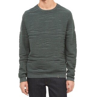 Calvin Klein Mens Mock-Neck Ombre Cable Knit Sweater