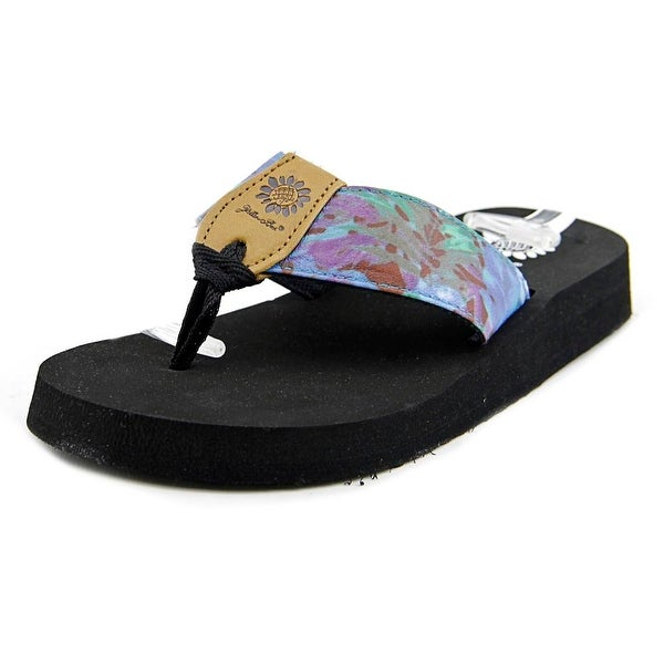 Yellow Box Gyda Women Open Toe Canvas Blue Flip Flop Sandal