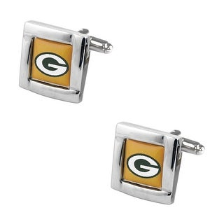 Green Bay Packers Square Cufflinks with Square Shape Logo Design