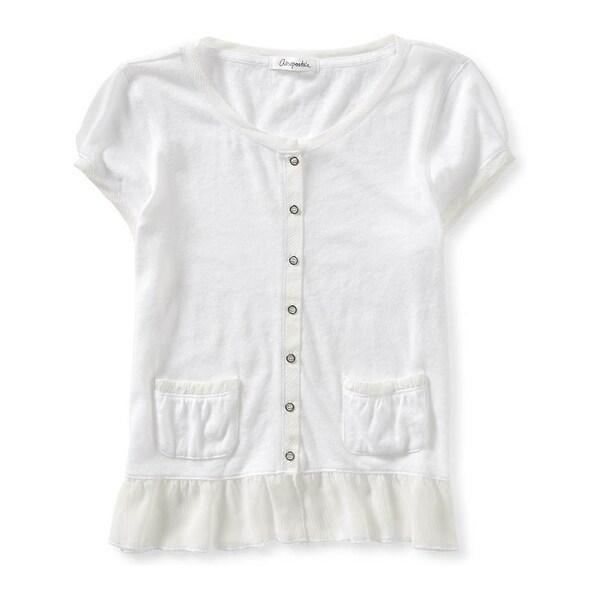 Aeropostale Womens Semi-Sheer Button Up Shirt