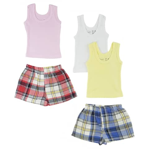 """8"""" Vibrant Comfortable Girls Infant Tank Top and Boxer Shorts - Large"""
