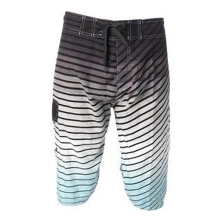 Milan Kerr Mens Striped Ombre Swim Trunks - 40
